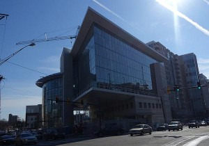 photo of Silver Spring Library under construction