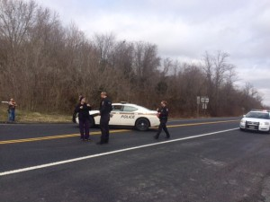 There are road closures in the area where the body was found.