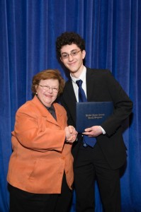 Richard Yarrow and Senator Barbara Mikulski.