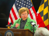 Sen. Barbara Mikulski announcing her retirement