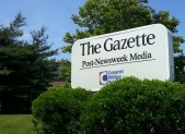 Gazette newspaper sign