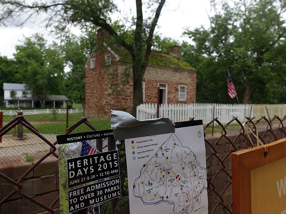HeritageDays sign along canal by Rileys Lock house June 28 2015