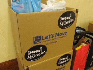The Move For Hunger project at Riderwood took in 632 pounds of food that will create 527 meals for those in need.