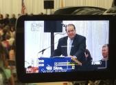 Justice Antonin Scalia addresses Stone Ridge graduating class