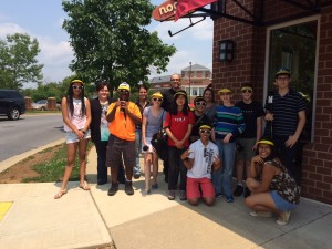 Backpack Journalists at the Kentlands Noodles & Company