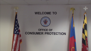 Office of consumer protection sign ocp