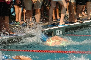 All Star: Phoebe Bacon, Tallyho, wins Girls 11-12 50 M Free, Time of 27.63