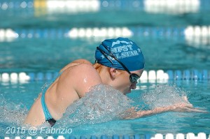 All Star: Dylan Gribble, Manchester Farm, wins Womens 15-18 100 M Breast with time of 1.14.98