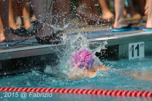 All Star: Campbell Scofield, Montgomery Square, wins Girls 8 & Under 25 Fly with time of 18.66