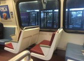 Metro train empty seat for Pope Francis visit to dc