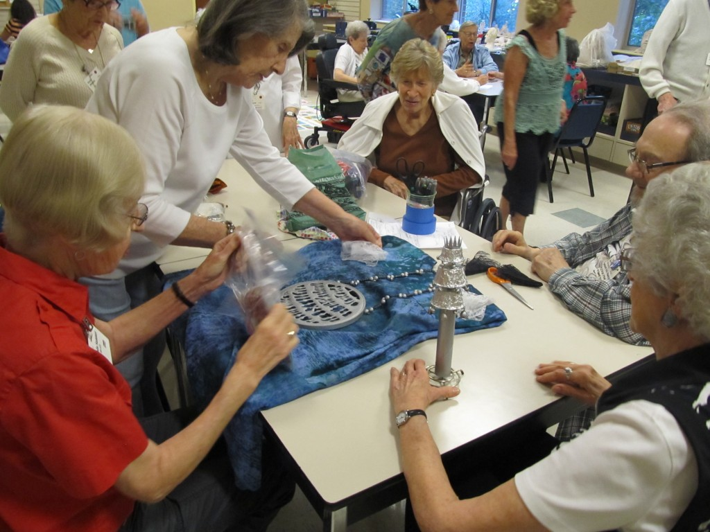 As part of the project, residents in the Riderwood Jewish Community came together to create & decorate the Scroll and arrange & stitch the panels.