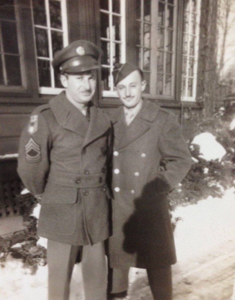 Harry with older brother Hymie in Hartford, CT, 1945