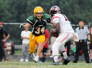 Jake Funk wild and free in the QO backfield