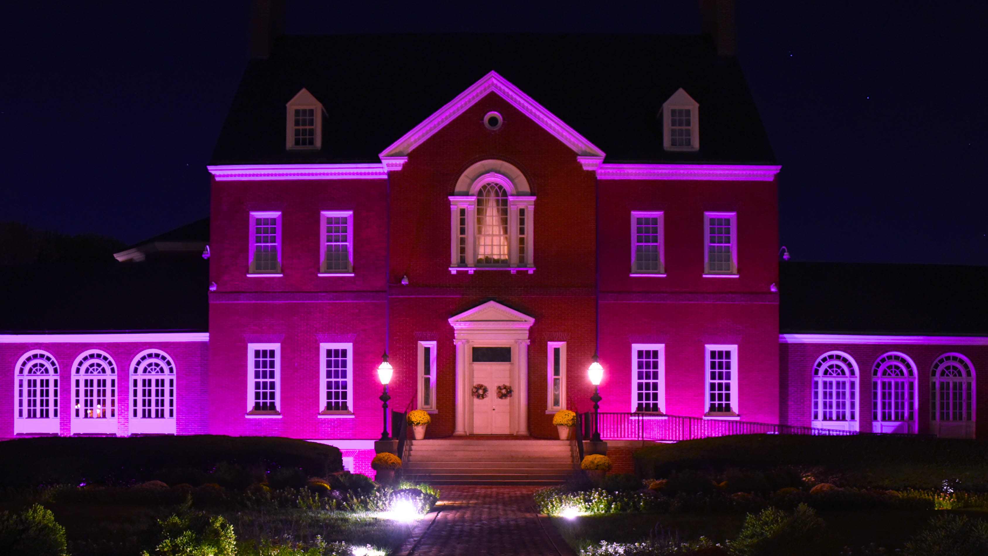 Government House Illuminates In Pink For T Cancer Awareness Month Photo