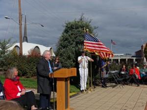 Guest speaker Roger Langley at Veterans Day event in Rockville 11_11_15 1