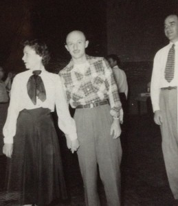Harry and his wife Jeanette at a social event in 1953. At right is Harry's associate editor and friend.