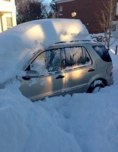 car in snow Gaithersburg