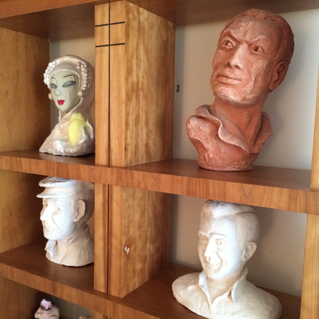 In retirement, Lesley enjoys Terra Cotta sculpting. Worldwide travel inspired some of the pieces she created.