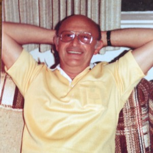 Harry Zubkoff relaxing at home in Silver Spring, MD, 1970s