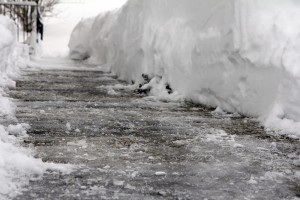 icy sidewalk winter ice