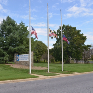 Public Service hq flags at half staff.fw