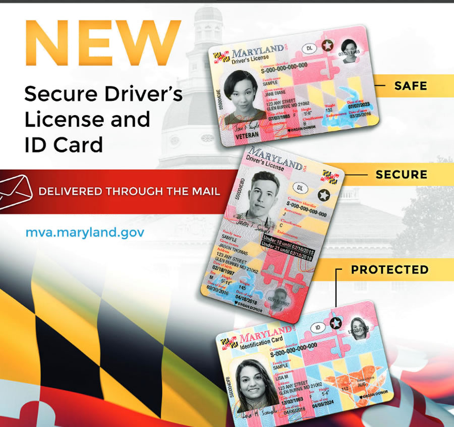 Maryland Driver's New Licenses Montgomery Cards I-d Media Unveils Community And