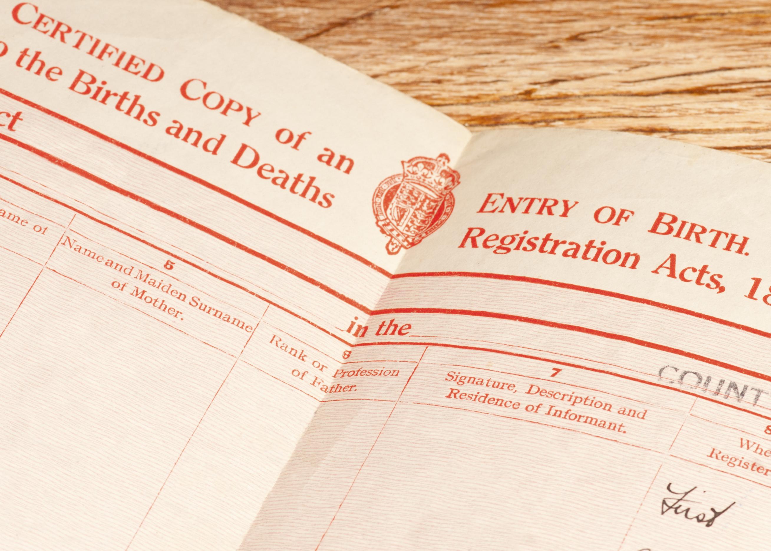 British Birth Certificate Montgomery Community Media