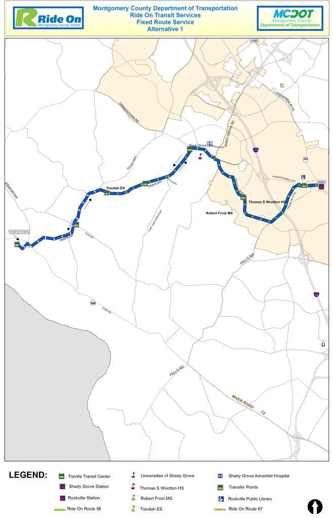 MCDOT Ride On Tobytown Alternative 1