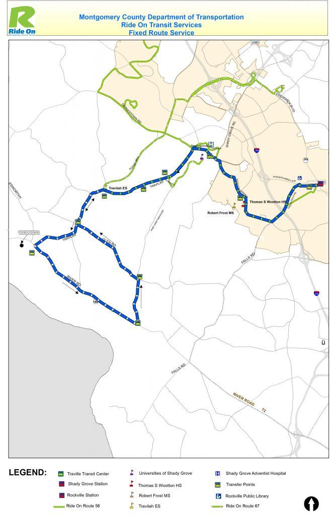 MCDOT Tobytown Shuttle Route
