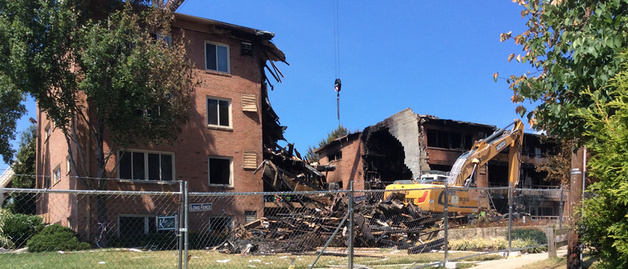 Silver Spring apartment explosion site 885x380