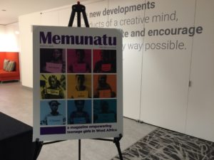 Memunatu Magazine sign