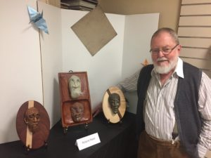 Roland Reed, a resident of Riderwood, entered his work in the Art of Ceramics exhibition.