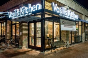 Vasili's Kitchen is located at 705 Center Point Way in the Kentlands community of Gaithersburg.