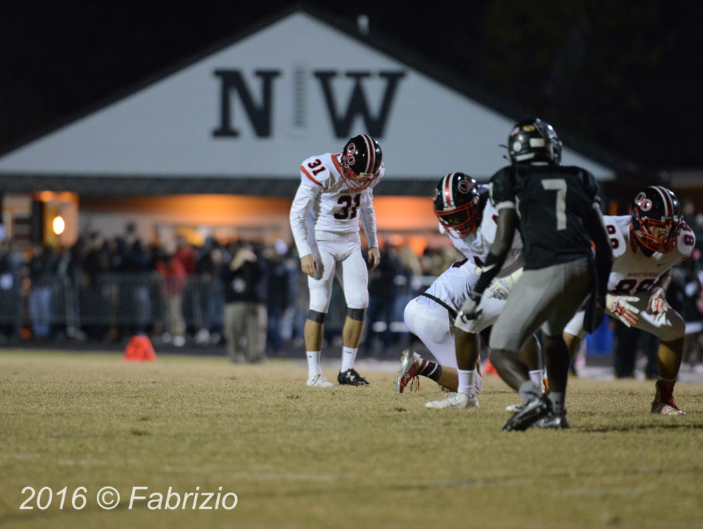 Quince Orchard visits Northwest in the Battle of Great Seneca. QO withstands late surge by NW to hold on to a 24-12 win.
