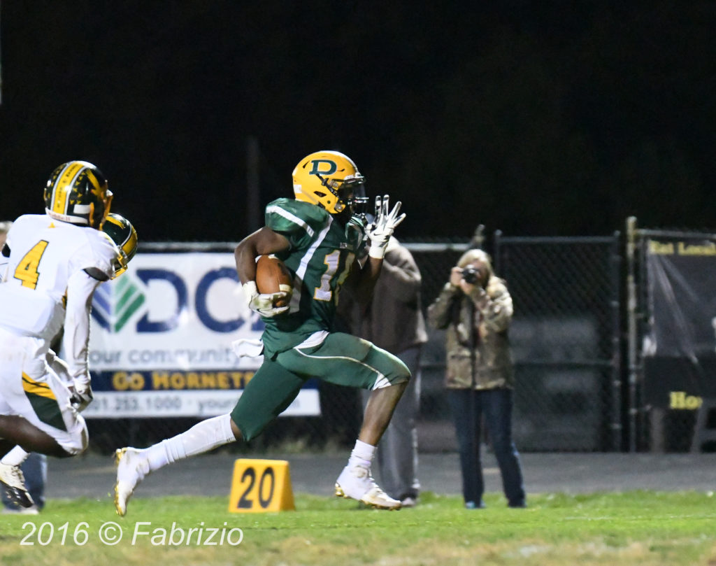 Seneca Valley at Damascus. Damascus wins 59-21 Markus Vinson