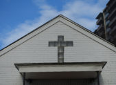 Cross above front door of Macedonia Baptist Church 5119 River Road Bethesda 1600 x 1200