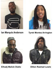 Four Arrested on Robbery Charges in Connection with Wheaton Holdup