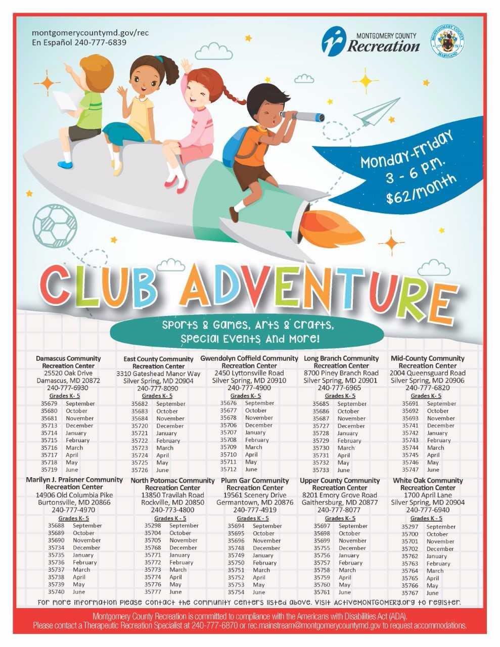 County Recreation Calendar For August Montgomery Community Media Best Zumba Dance Steps Diagram Downloads Club Adventure Register Online At Activemontgomeryorg