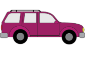 purple passenger car suv graphic square