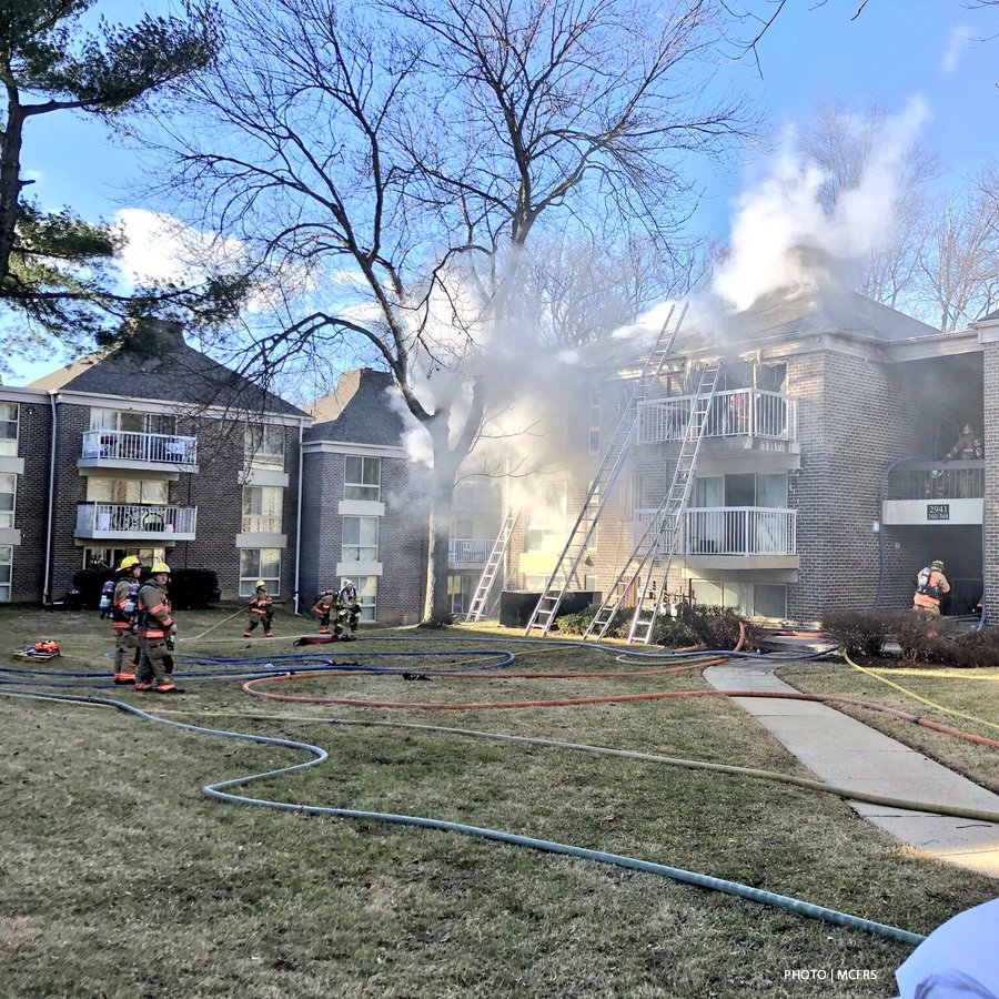 Apartment Fire Displaces Aspen Hill Residents