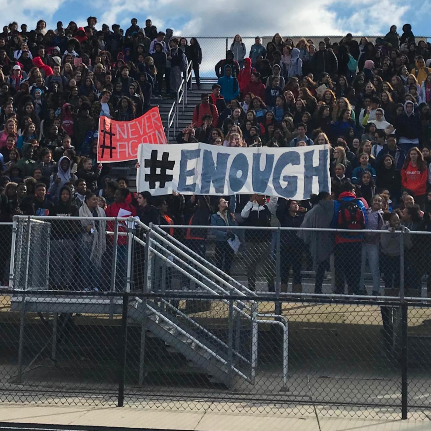 Wednesday Marks 17 Years Since Columbine High School: Clarksburg Students Stage 'Walkout' To Football Stadium
