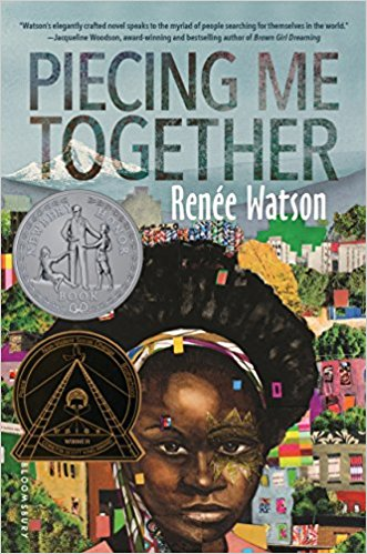 book cover for Piecing me together by renee watson
