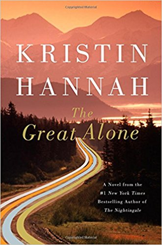 book cover for the great alone by kristin hannah