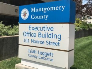 photo of Montgomery County Executive Office Building sign