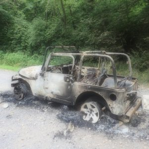 Jeep Fire in Poolesville