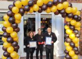 (l:r) Vaishali, Ajay, & Deepak Kapoor are excited to be a part of the community by offering a relaxing café to warm your heart & satisfy your taste buds with the ultimate dessert experience. Their Nestle Toll House Café is located in the Kentlands of Gaithersburg, Maryland.   (photo credit: Laura Rowles, Director of Marketing, Gaithersburg-Germantown Chamber.)