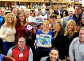 Roughly 60 toys were donated to the Pinky & Pepe's Grape Escape fundraising & toy drive collection for Toys for Tots at the Gaithersburg-Germantown Chamber networking event on Thursday, November 27, 2018.   (photo credit: Weston Trussell, Weston Trussell Creative)
