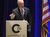 Chris VanHollen at Committee for Montgomery 2018 legislative breakfast 452x452