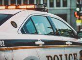 Police Car Stock Image Square
