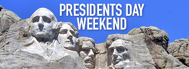 photo of Mount Rushmore for Presidents Day Weekend
